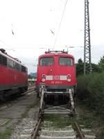 BR 110/25548/110-352-2-abgestellt-im-bahnhof-von 110 352-2 abgestellt im Bahnhof von Freilassing am 23. August 2008.