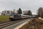 BR 182/531400/182-507-mit-dem-ic-koenigssee 182 507 mit dem IC Königssee' am 3. Dezember 2016 bei Übersee am Chiemsee.