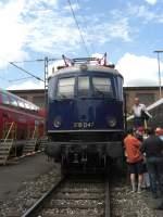 Bahnfest Passing 2008/18565/e-18-047-war-eine-der E 18 047 war eine der Sehenwürdigkeiten beim Bahnfest in Pasing.
