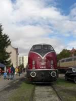 Bahnpark Augsburg/174225/v-200-017-im-bahnpark-von V 200 017 im Bahnpark von Augsburg im Jahr 2009.