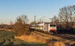lokomotion-9/531446/186-441-mit-einem-autozug-aus 186 441 mit einem Autozug aus München kommend am 10. Dezember 2016 bei Vogl.