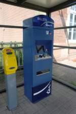 Bahnallerlei/181630/im-aussenbereich-des-bahnhof-lauterbourg-stand Im Aussenbereich des Bahnhof 'Lauterbourg' stand dieser Fahrkartenautomat. Aufgenommen am 28. August 2011.